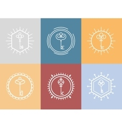 Key logo in hipster style vector image vector image