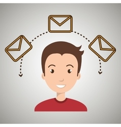 man message email card vector image