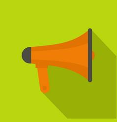 orange loudspeaker icon flat style vector image
