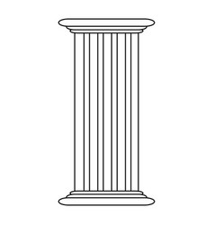 roman column antique architecture construction vector image