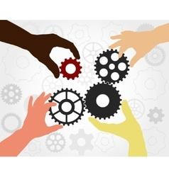 Teamwork gears - vector image vector image