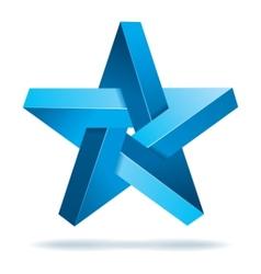 unreal geometrical star vector image