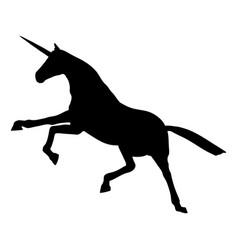 a beautyful unicorn figure isolated on vector image