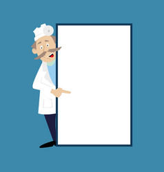 a medical doctor and a blank banner vector image vector image