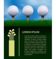Golf design template vector image