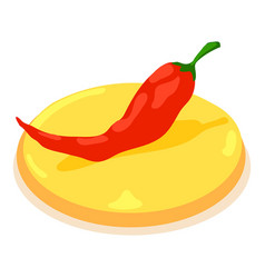 pepper chilli icon isometric 3d style vector image