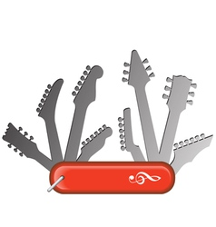 Swiss Knife Guitars vector image vector image