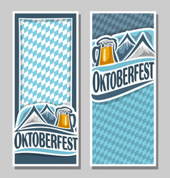 vertical banners for oktoberfest vector image