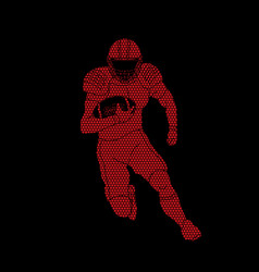 american football player sportsman action vector image