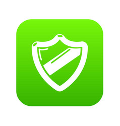 Antivirus installation icon green vector