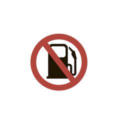 Ban gas station sign vector