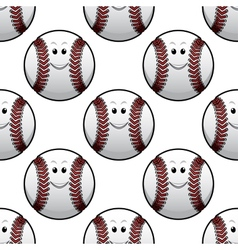Baseball seamless pattern vector image