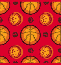 Basketball sport sketch seamless pattern vector
