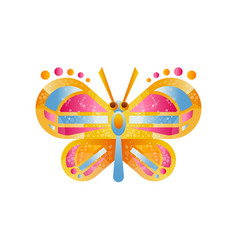 Beautiful colorful butterfly vector