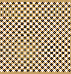 Beige black argyle harlequin seamless pattern vector