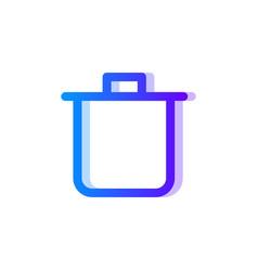 bin blue purple gradient icon remove and trash vector image