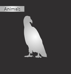 Black and white style icon eagle vector