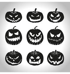 Black pumpkins vector image