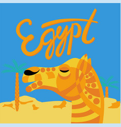 Camel decorated head vector