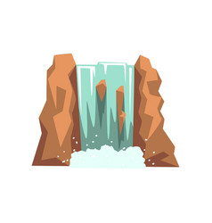 cartoon river waterfall fresh natural spring vector image