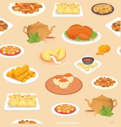 Chinese food oriental street restaurant vector