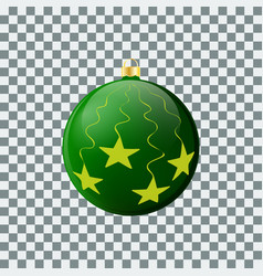 christmas ball - green - decorated design vector image