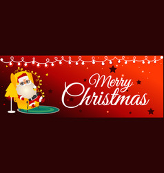 christmas congratulation vector image