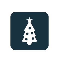Christmas tree icon Rounded squares button vector image