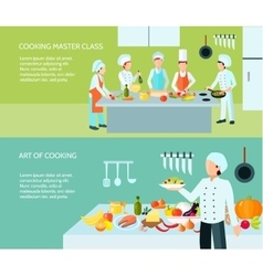Cooking art banner set vector