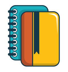 copybook icon cartoon style vector image