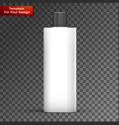 Cosmetic or hygiene grayscale lid plastic bottle vector