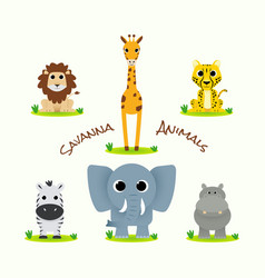 cute savanna animal vector image
