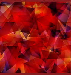 dark red gradient triangle mosaic template vector image