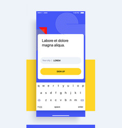 design of the mobile application ui ux gui from vector image