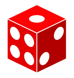 dice cube flat icon vector image
