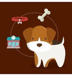 Dog cartoon pet design vector