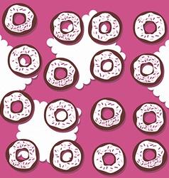 Donutswithpinksprinklessponpink vector