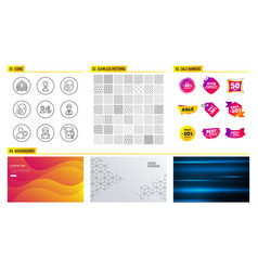 Education face attention and group icons face vector