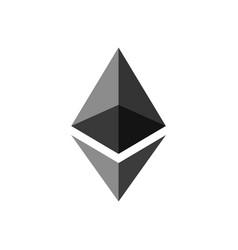 Ethereum coin symbol logo vector