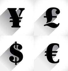 Euro Dollar Pound and Yen vector