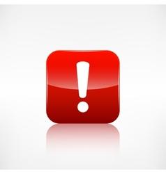 Exclamation danger web icon Application button vector
