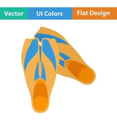 Flat design icon of swimming flippers vector