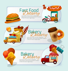 Food Delivery Banner Set vector
