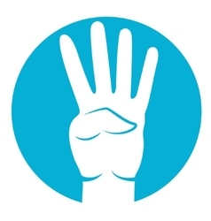 four fingers icon vector image