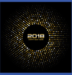 Gold happy new year 2018 card frame background vector