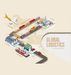 Graphic scheme of goods movement vector