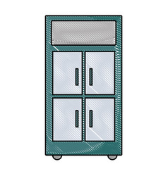 Grated office cabinet archive file organization vector