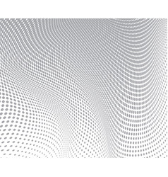 gray circles on white background halftone wave vector image