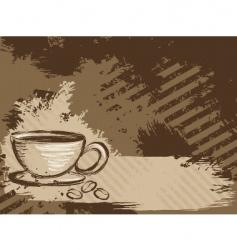 Grunge coffee background horizontal vector