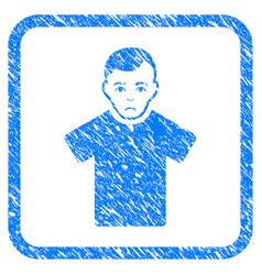 Guy framed stamp vector